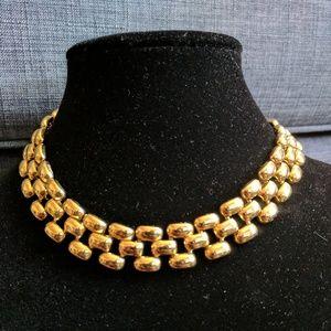 Erwin Pearl Pin (P.E.P) Signed Vintage Gold Choker
